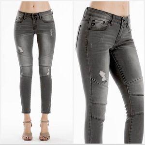 Kancan black Moto style jeans